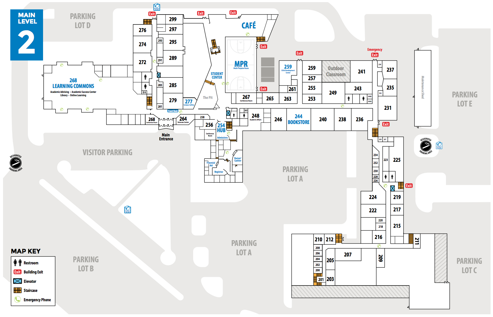 Campus Map and Directions - Manchester Community College, New Hampshire