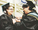 Jennifer Marsh, right, and her daughter Emma-Lee Elizabeth Marsh both graduated with a medical assistant degrees from Manchester Community College on Wednesday.