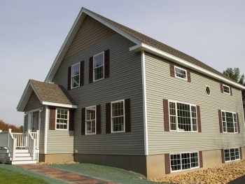 The new three-bedroom, three-bathroom energy-efficient home at 308 Straw Road that Manchester Community College students, in partnership with Duffley Development Corp., built over the past year.