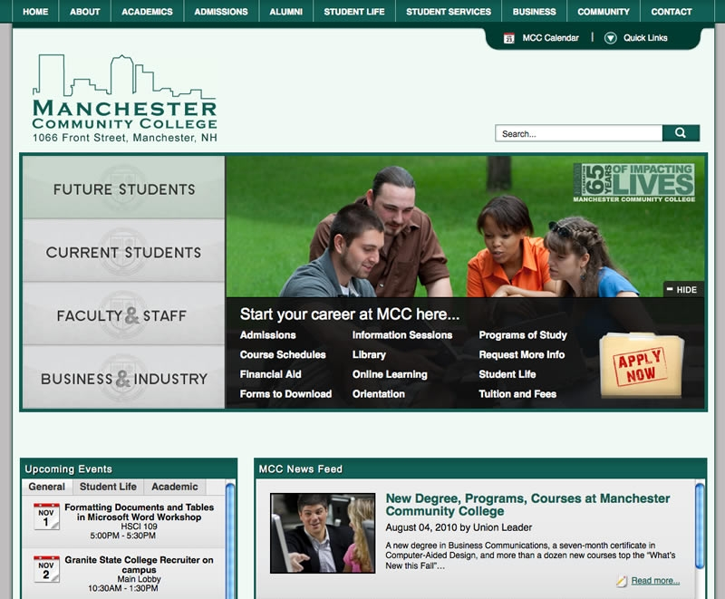 MCC Launches New, Interactive Website - Manchester ...